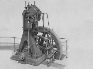 Один из первых дизельных двигателей