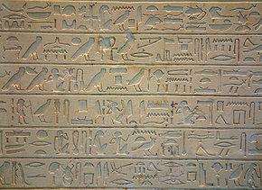 Пример иероглифического письма