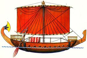 Древнее парусное судно Египта