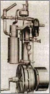 Двигатель для автомобиля Даймлера, разработанный Майбахом