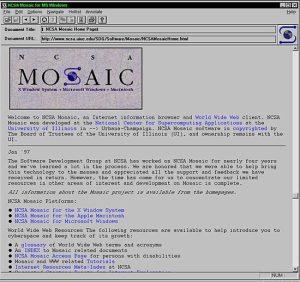 Браузер Mosaic (1993)