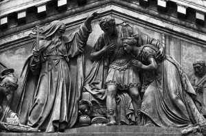 Гальванопластические скульптуры на Исаакиевском соборе