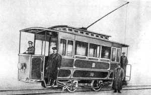 Первый электрический трамвай в Киеве